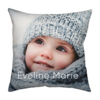 18-Inch Square Dual Sided Photo Faux Linen Dark Throw Pillow