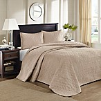 Madison Park Quebec King/California King Bedspread Set in Khaki