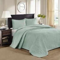 Madison Park Quebec King/California King Bedspread Set in Seafoam