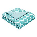 Madison Park Ogee Oversized Down Alternative Throw in Aqua