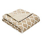 Madison Park Ogee Oversized Down Alternative Throw in Tan