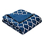 Madison Park Ogee Oversized Down Alternative Throw in Indigo