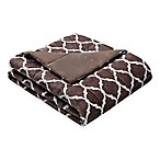 Madison Park Ogee Oversized Down Alternative Throw in Brown