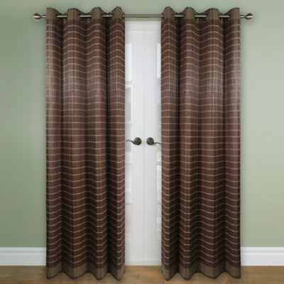 Versailles Home Natural Sustainable Bamboo 63 Inch Grommet Window Curtain Panel In Walnut