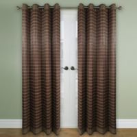 Versailles Home Natural Sustainable Bamboo 63-Inch Grommet Window Curtain Panel in Walnut