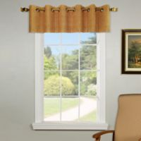 Versailles Home Natural Sustainable Bamboo Grommet Window Valance in Teak