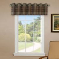 Versailles Home Natural Sustainable Bamboo Grommet Window Valance in Walnut