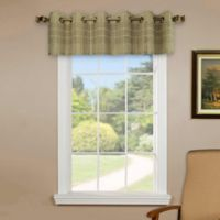 Versailles Home Natural Sustainable Bamboo Grommet Window Valance in Driftwood