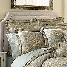 j queen new york valdosta aqua european sham - J Queen New York Bedding