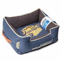 Touchdog® Sporty Vintage Throwback Large Rectangular Dog Bed in Green/Brown