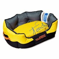 Toughdog Performance-Max Sporty Comfort Cushioned Large Dog Bed in Yellow/Black