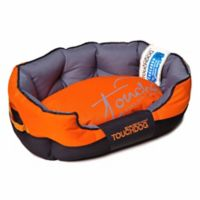 Toughdog Performance-Max Sporty Comfort Cushioned Large Dog Bed in Orange/Black