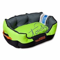 Toughdog Performance-Max Sporty Comfort Cushioned Large Dog Bed in Green/Black