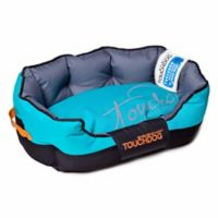 Toughdog Performance-Max Sporty Comfort Cushioned Large Dog Bed in Blue/Black