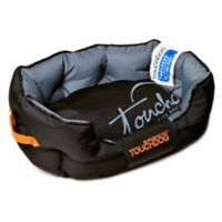 Toughdog Performance-Max Sporty Comfort Cushioned Large Dog Bed in Black/Grey