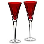 Waterford® Lismore Crimson Toasting Flute (Set of 2)