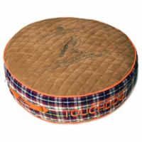 Touchdog Bark-Royale Small Rounded Premium Dog Bed in Light Brown Multi