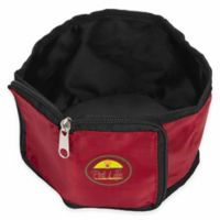 Wallet Folding Collapsible Zip-N-Go Travel Pet Bowl in Red