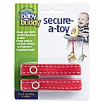 Baby Buddy® Secure-a-Toy Straps in Red/White (Set of 2)