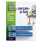 Baby Buddy® Secure-a-Toy Straps in Blue/Brown (Set of 2)