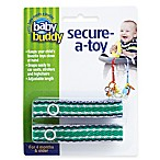 Baby Buddy® Secure-a-Toy Straps in Navy/Green (Set of 2)