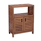 Haven™ Stained Teak 2-Door Cabinet in Brown