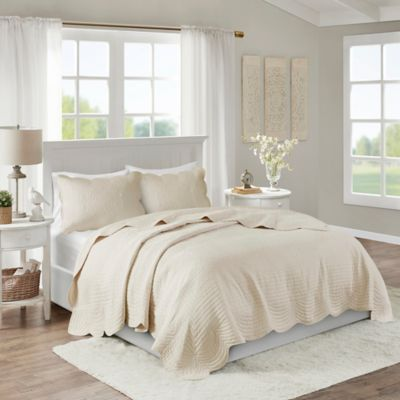 Wonderful Madison Park Tuscany 3 Piece King/California King Coverlet Set In Ivory