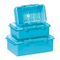 Oggi™ 3-Piece Snap N Seal Storage Set in Aqua
