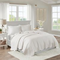 Madison Park Tuscany 3-Piece Full/Queen Coverlet Set in White