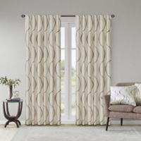 Madison Park Serendipity 84-Inch Rod Pocket/Back Tab Window Curtain Panel in Ivory