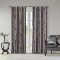 Madison Park Serendipity 84 Inch Rod Pocket Back Tab Window Curtain Panel In Charcoal
