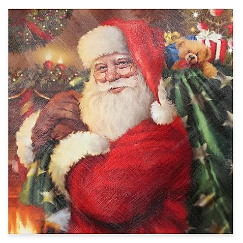 Santa Is Here Christmas Canvas Wall Art - Bed Bath & Beyond