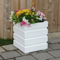 Mayne Freeport Patio Planter in White