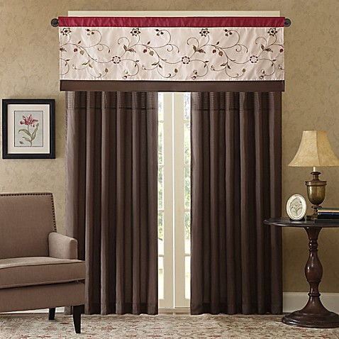 Madison Park Serene Window Curtain Panel And Valance Bed