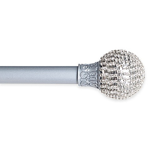 buy sparkling ball 48 to 86 inch adjustable curtain rod in