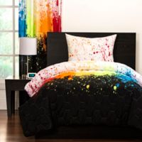 Crayola® Cosmic Burst 2-Piece Reversible Twin Comforter Set in Black