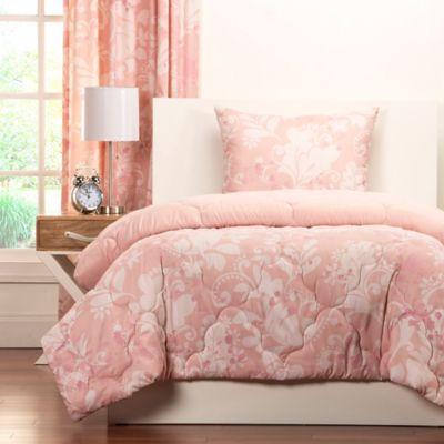 crayola eloise reversible comforter set in pink u003e crayola eloise 3piece reversible