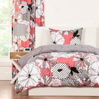 Crayola® Flower Patch 3-Piece Reversible Full/Queen Comforter Set in Pink/Grey