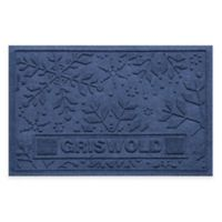 Weather Guard™ 23-Inch x 36-Inch Holiday Snowflake Door Mat in Navy