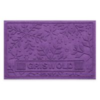 Weather Guard™ 23-Inch x 36-Inch Holiday Snowflake Door Mat in Purple