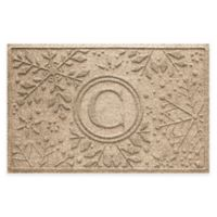 Weather Guard™ Snowflake 23-Inch x 36-Inch Holiday Door Mat in Camel