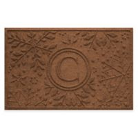 Weather Guard™ Snowflake 23-Inch x 36-Inch Holiday Door Mat in Dark Brown