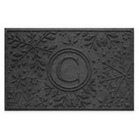 Weather Guard™ Snowflake 23-Inch x 36-Inch Holiday Door Mat in Charcoal