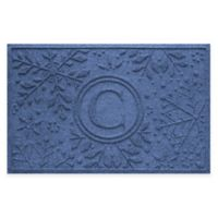 Weather Guard™ Snowflake 23-Inch x 36-Inch Holiday Door Mat in Navy