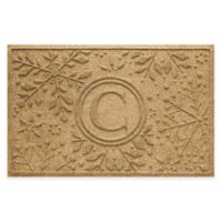 Weather Guard™ Snowflake 23-Inch x 36-Inch Holiday Door Mat in Gold