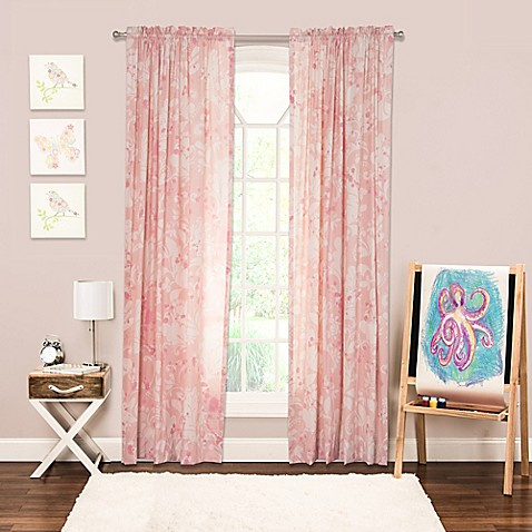Crayola Eloise 84 Inch Rod Pocket Window Curtain Panel In Pink Bed Bath Beyond