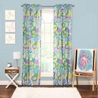 Crayola® Pointillist Pansy 84-Inch Window Curtain Panel