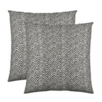 Colorfly® Citizen Throw Pillow in Charcoal (Set of 2)