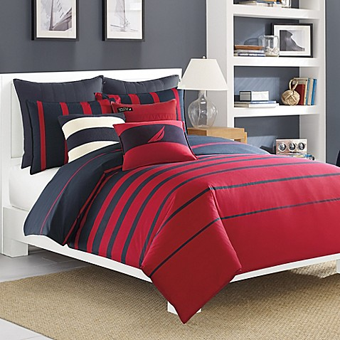 Nautica 174 Dillon Comforter Set In Red Bed Bath Amp Beyond