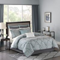 Madison Park Lavine Queen Comforter Set in Blue